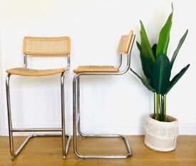 Marcel Breuer 2 Cesca bar stools
