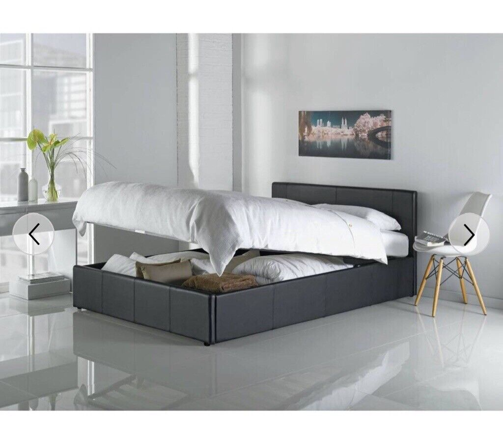 Magnificent Kingsize Black Ottoman Bed In Bathgate West Lothian Gumtree Gmtry Best Dining Table And Chair Ideas Images Gmtryco