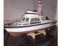 """White Star"" Fully assembled deep sea fishing cruiser."