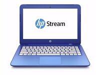 NEW HP Stream 13-c025na Laptop with Intel Celeron 2.16 GHz 2 GB RAM 32 eMMC 100 GB Cloud Windows 8.1