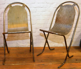 6 available Sebel Stak a Bye industrial metal chair vintage restaurant stacking retro kitchen garden
