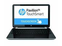 HP Pavilion Touchsmart 15.6 HD LED,windows10, 1TB, 4GB, MSOffice, Security