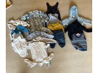 Baby boy 0-3m clothes bundle