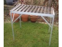 Aluminium garden staging, potting table