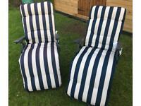B&Q garden recliner / relaxer chairs x2
