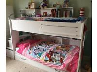 Parisot Bebop bunk bed with trundle and mattress