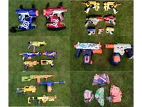Nerf Guns Collection of 20 various types