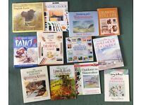 Lot of 9 Watercolour and 2 Sketching Art instruction Books