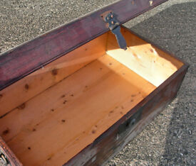 """Vintage Wooden Pine Chest/Trunk 24""""x14""""x9"""" (WH_2560)"""