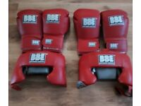 New BBE Boxing Gloves and Headgear