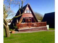 Luxury 3 bedroomed log cabin at Haven Holiday Park North Wales