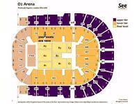 Olly Murs Tickets x3 Blk 111 row L( AISLE SEATS) Fri 31st Mar London o2 Arena £200