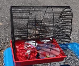 SMALL PET CAGE - LIKE NEW - Complete with bowls, toys, etc. for hamster.  OAKVILLE 905 510-8720