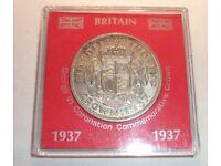 Silver 1937 George VI Commemorative Crown - Still in original case of issue