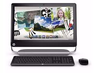 """HP Touchsmart 520 Touchscreen PC, 23"""" screen Keyboard and Wireless mouse Windows 7"""