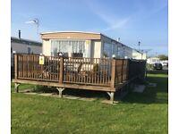 6 berth 3 bed caravan,ingoldmells,skegness,DOG FRIENDLY,fri-mon april 6-9th £160,quiet site