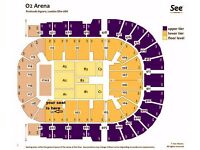 Olly Murs Tickets 2 or 4 GREAT SEATS GOING CHEAP Blk 101 o2 Arena Sat 1st April £120 a pair