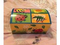 Handmade & Handpainted Treasure Box Excellent Condition