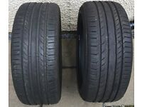 225 45 R17 Continental Contact Tyres Nearly New x 2 Available