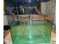 large/med/and small gerbil/hamster cages