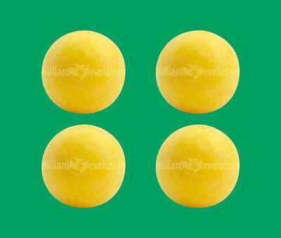 4 Yellow Foosballs - Textured Table Soccer Balls - Dynamo