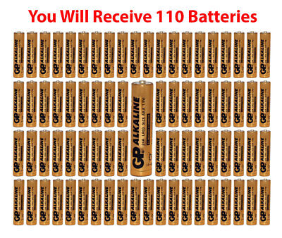 (110-Pack) GP Size AAA Batteries Alkaline 1.5V LR03 BULK Wholesale Lot 2021 for sale  Shipping to India