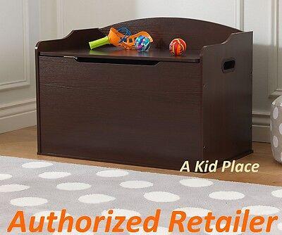 KIDKRAFT AUSTIN WOODEN TOY BOX GAMES STORAGE BENCH CHEST DARK BROWN ESPRESSO NEW (Toy Box Games)