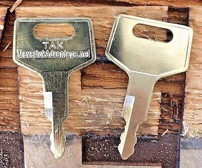 2 Takeuchi Keys For Excavator Track Loader H806