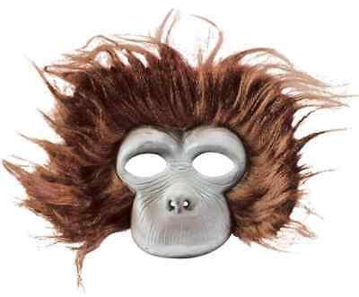 Chimpanzee Mask (Plush Chimpanzee Mask Monkey Animal Fancy Dress Up Halloween Costume)