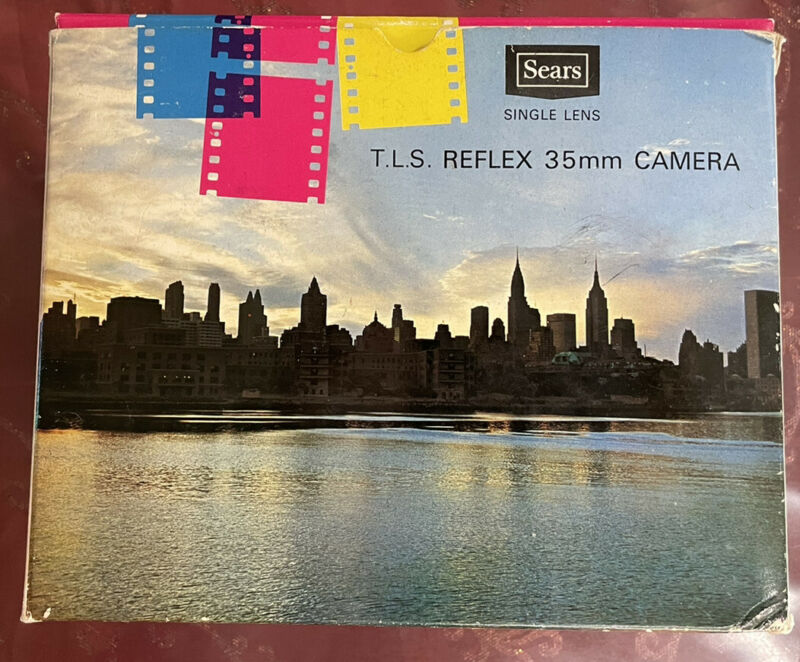Vintage Sears TLS 35MM CAMERA 1.4 Lens New In Box With Case