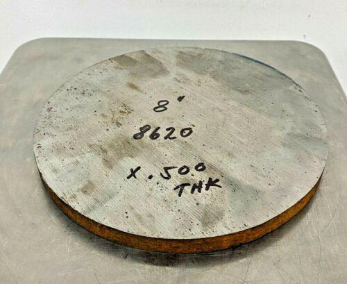 """1/2"""" Steel Plate, Disk, 8"""" Diameter, 8620 Steel, Round, Circle"""