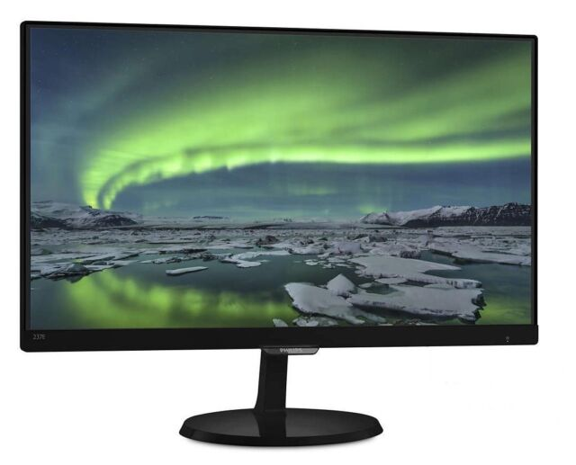 Philips 23E7QDSB 23 inch LED IPS Monitor - Full HD 1080p, 14ms, HDMI, DVI