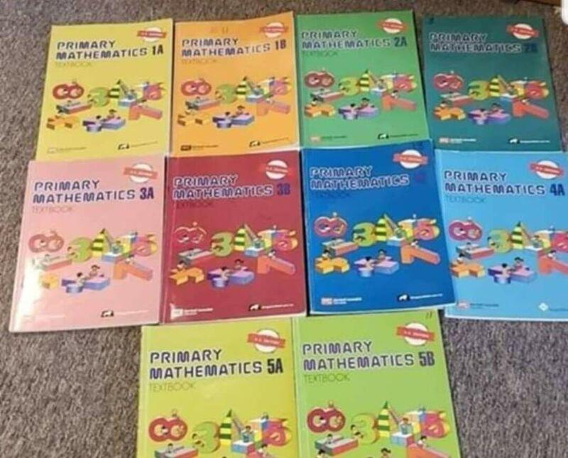 Singapore Primary Math 1A thru 5B (10 texts) No Writing US Edition