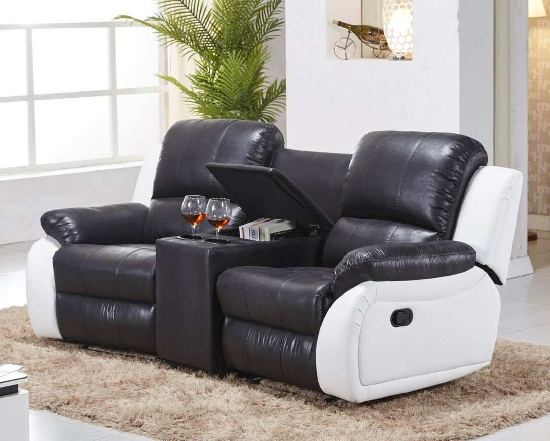 mikrofaser sofa kinosofa relaxcouch fernsehsofa recliner. Black Bedroom Furniture Sets. Home Design Ideas