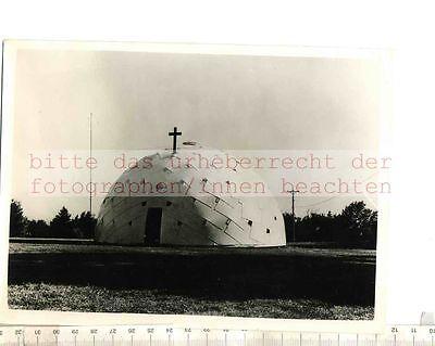 ORIGINAL PRESSEFOTO: NEBRASKA NOVEL MISSION CHURCH CATHOLIC KNOWN as PLYDOME