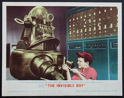 FORBIDDEN PLANET ROBBY THE ROBOT SCI-FI BEST CLOSEUP 1957 LOBBY CARD #2