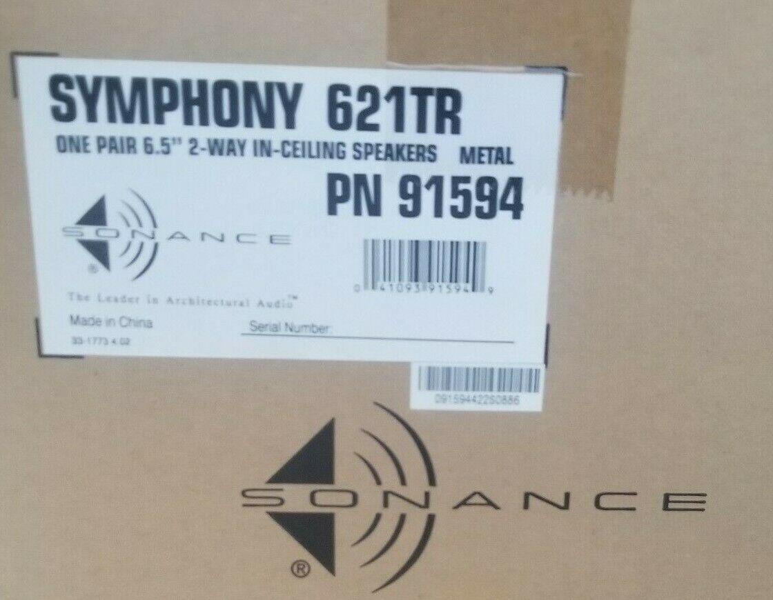 "NEW Sonance Symphony S621TR Speaker Pair  In Ceiling 6.5"" 2"