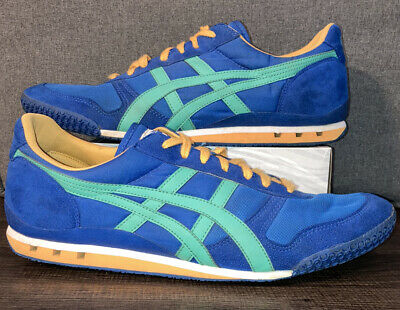 Asics ONITSUKA TIGER Blue Teal Yellow Ultimate 81 HN201 Training Shoes Men's 13