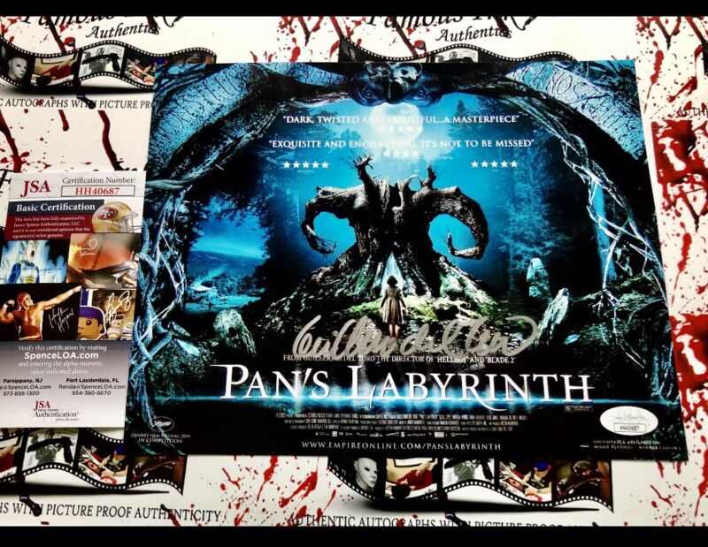 Guillermo del Toro JSA Autographed 8x10 Pan's Labyrinth Movie Poster Photo
