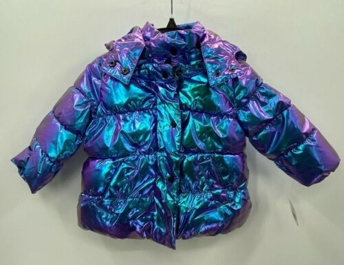 Urban Republic Size 24 Month Purple Iridescent Puffer Coat Lined Hooded NWT