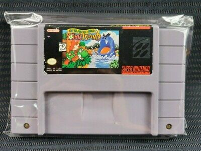 Super Nintendo SNES Super Mario World 2 Yoshi's Island Game Cartridge