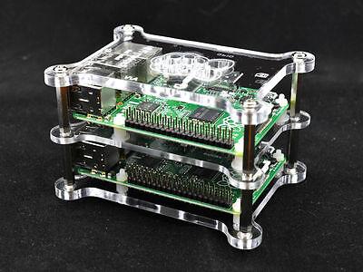 Pi Platte (1x Zwischenplatte für Raspberry Pi 4,3 Gehäuse Model G-RP-BPC Marke Vullers Tech)