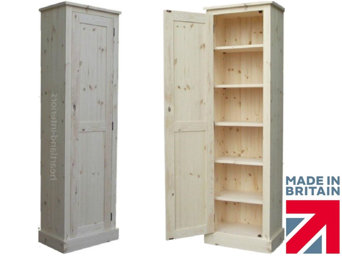 Solid Wood Slim Cupboard Tall Linen Pantry Hallway