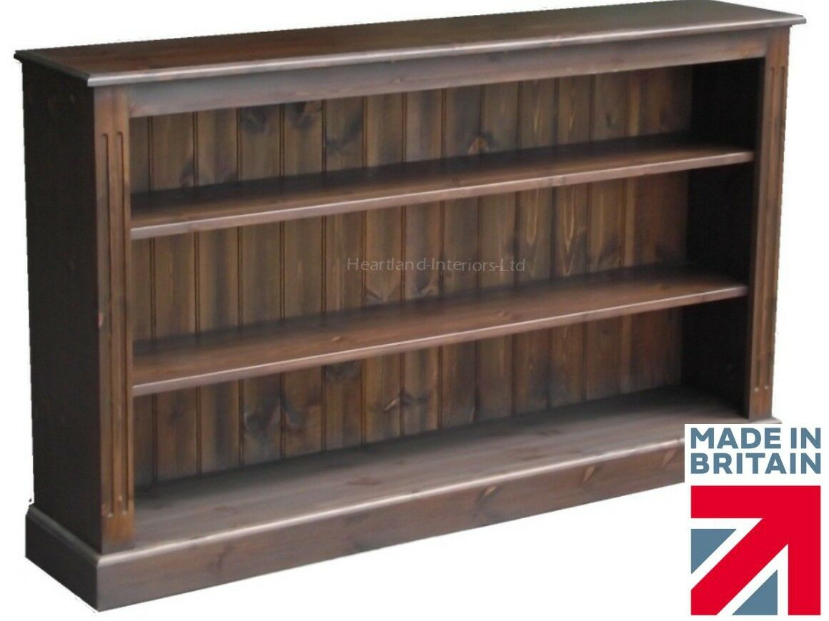 Dark Wood Low Bookcase Easy Home Decorating Ideas