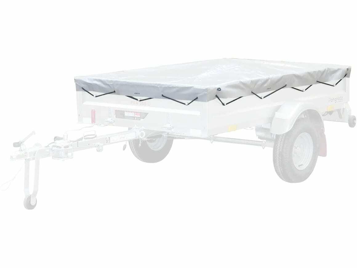 Pongratz Flachplane mit eingezogenen Gummibändern für PKWAnhänger Nr. 21870