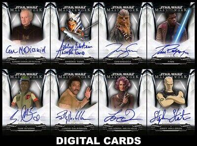 Topps Star Wars Card Trader MASTERWORK 2020 Wave 2 [8 CARD SIGNATURE SET]