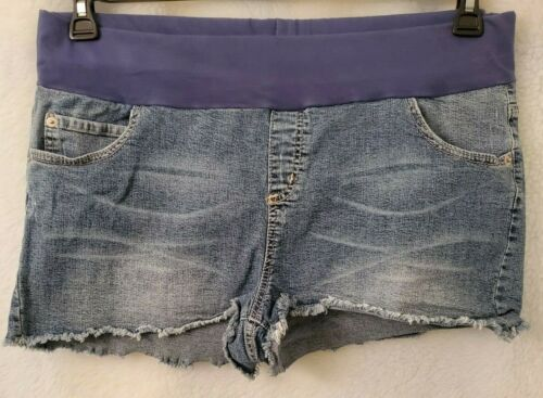 Motherhood Maternity Womens Blue Jean Cut Off Shorts Size XL