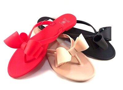 Dizzy F  Lounge Matte Jelly Flat Thong Flip Flops Choose Sz Color