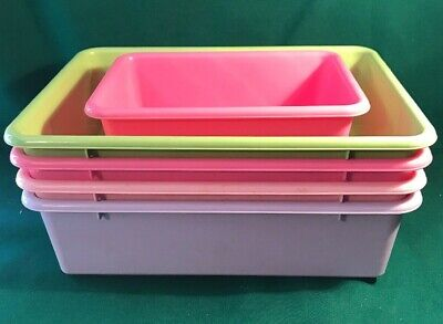 Replacement Pastel Plastic Bins for Toy shelf organizer Pink,lavender,green