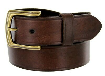 Detroit Men's Leather Work Belt Uniform Belt 1 1/2